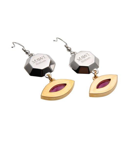 Mawi   Yellow Earrings   Lyst