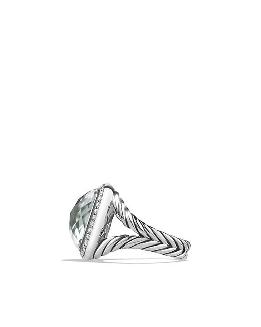 David Yurman | Metallic Albion Ring With Prasiolite And Diamonds, 14mm | Lyst