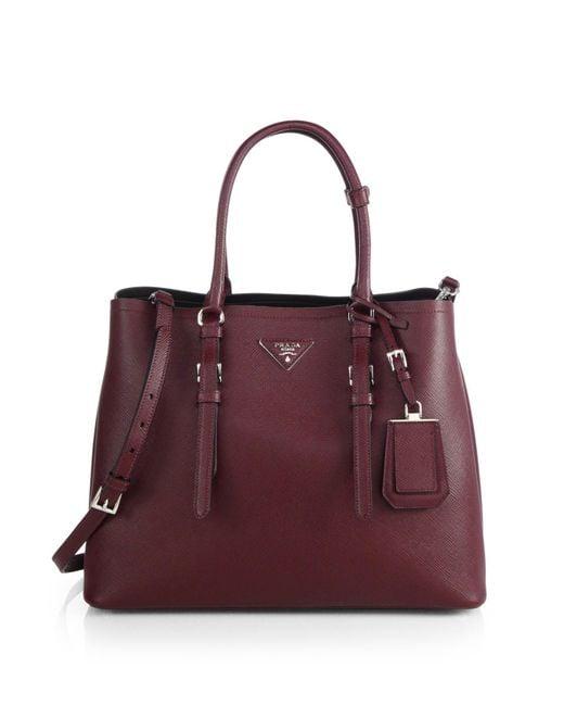 6c80d422e09fcc Prada Saffiano Cuir Double Bag Sizes | Stanford Center for ...