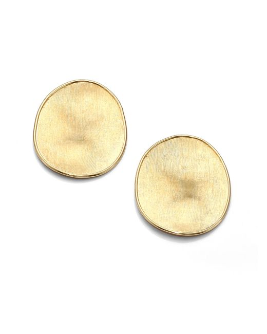 Marco Bicego | Metallic Lunaria 18k Yellow Gold Large Button Earrings | Lyst