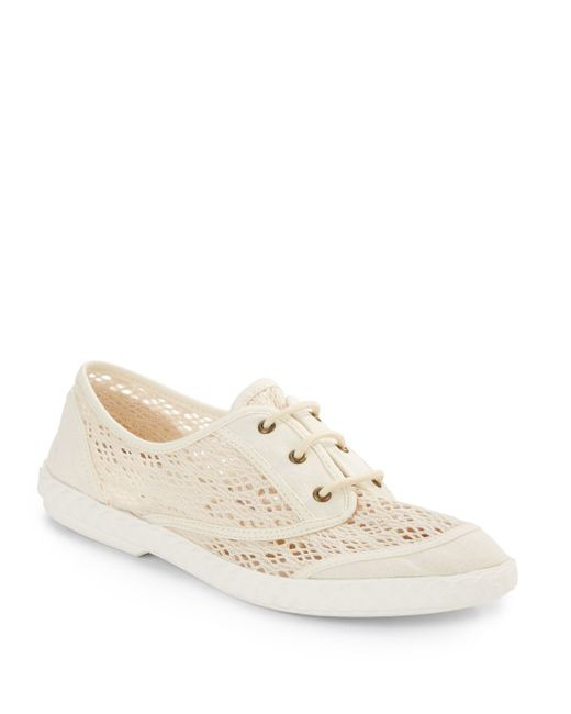 Diane von Furstenberg | Natural Bea Lace-up Sneakers | Lyst