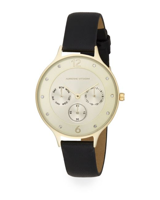 adrienne vittadini sport sports chronograph in gold