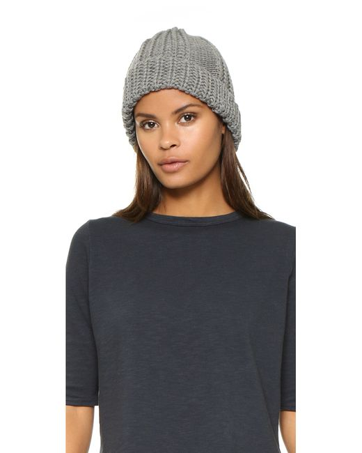 1717 Olive | Gray Cable Knit Beanie | Lyst