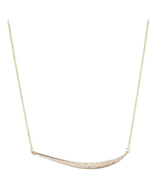 Alexis Bittar | Metallic White Diamond Pave Marquis Crescent Necklace You Might Also Like | Lyst