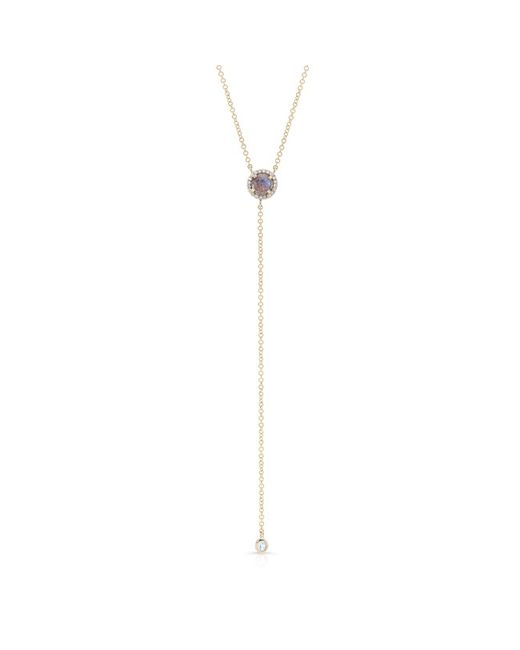 Anne Sisteron | Blue 14kt Yellow Gold Labradorite Diamond Flirt Lariat Necklace | Lyst