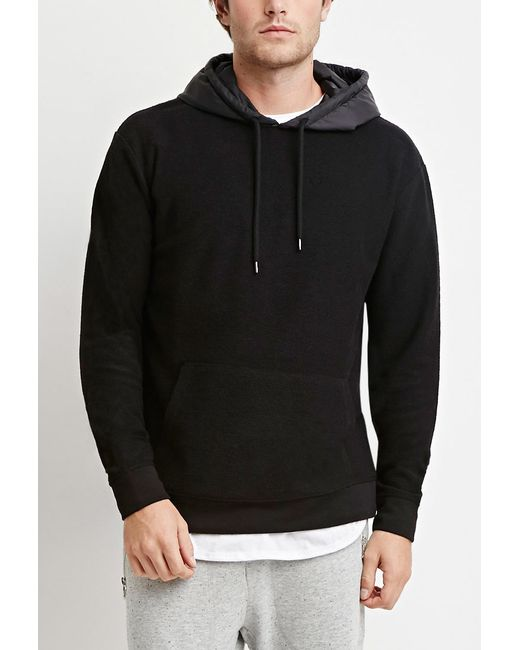 Forever 21 | Black Reverse French Terry Hoodie for Men | Lyst
