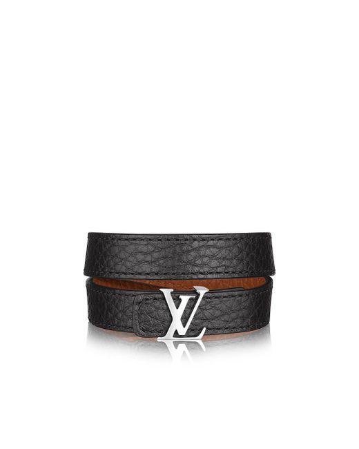 Louis Vuitton | Black Lv Initials Reversible Bracelet for Men | Lyst