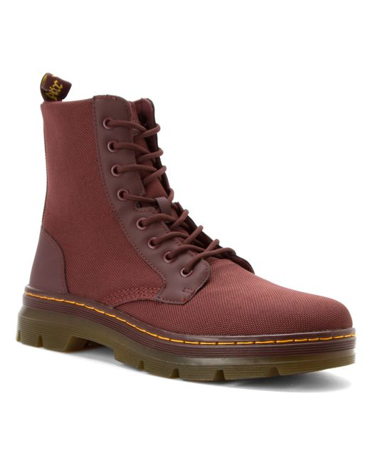 Dr. Martens | Red Combs 8-Eye Canvas Ankle Boots for Men | Lyst