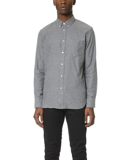 Rag & Bone | Gray Standard Issue Lightweight Flannel Shirt for Men | Lyst