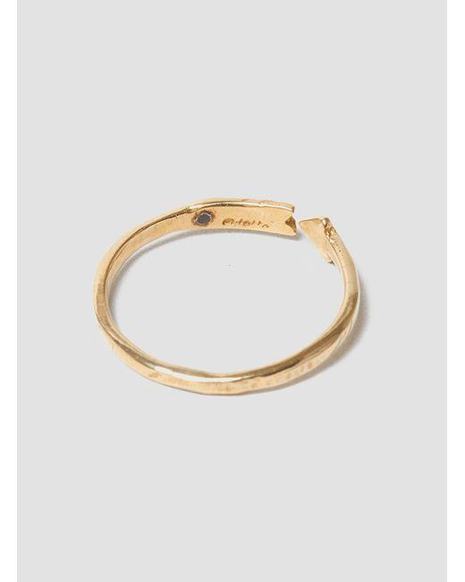 Odette New York | Metallic Diamond Arrow Band Ring 14k Gold | Lyst