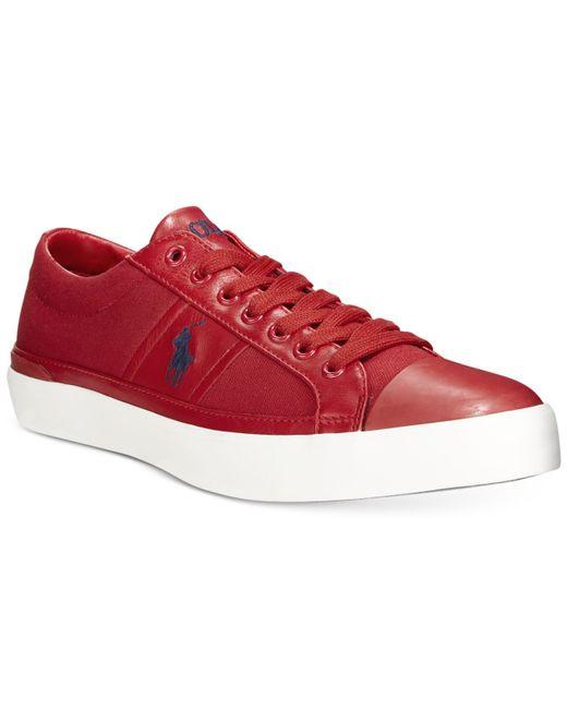 Polo Ralph Lauren | Red Churston Sneakers for Men | Lyst