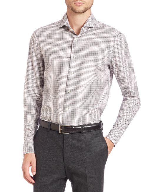 Eidos | Gray Marcus Plaid Sportshirt for Men | Lyst