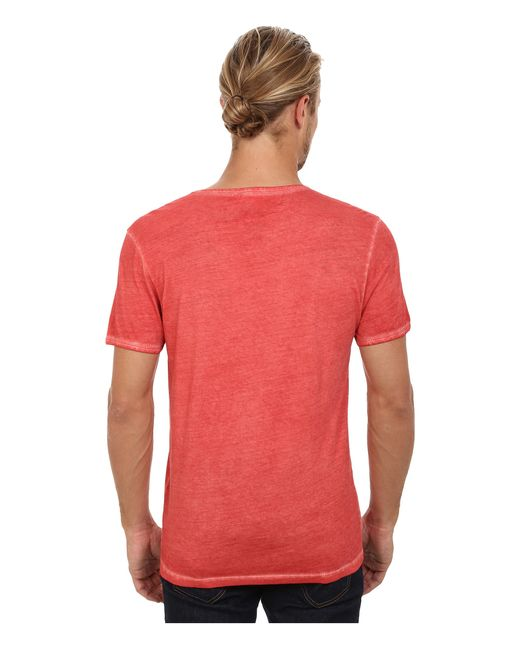 BOSS Orange | Red Toulouse Garment Dyed Jersey Fashion Fit Short Sleeve V-neck Tee for Men | Lyst