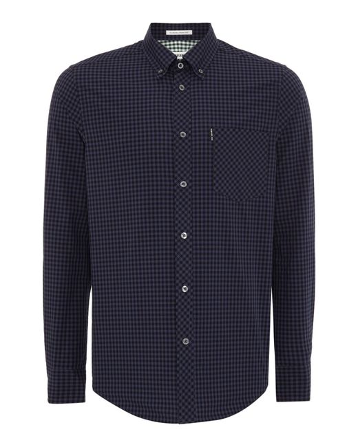 Ben Sherman | Black Classic Gingham Check Long Sleeve Shirt for Men | Lyst