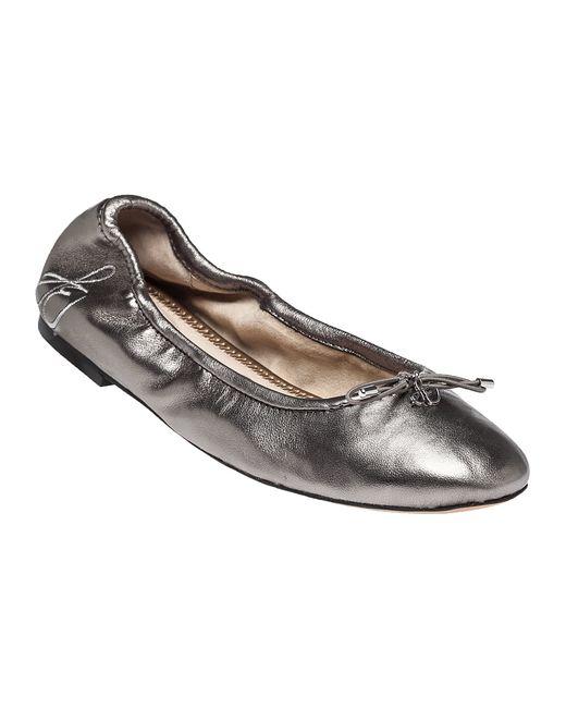 Sam Edelman Felicia Leather Ballet Flats In Silver Dsil