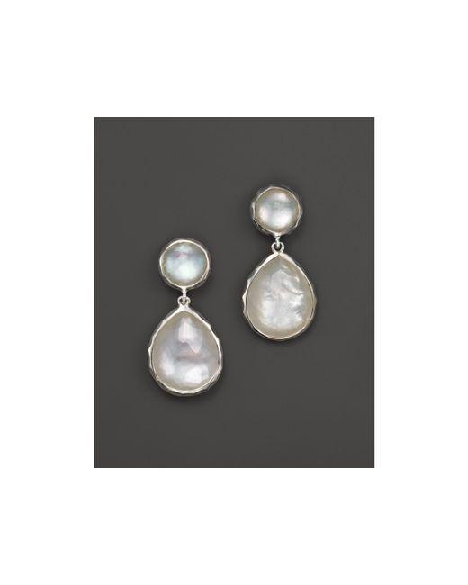 Ippolita | Metallic Sterling Silver Rock Candy Snowman Post Earrings In Mother-of-pearl | Lyst