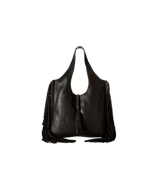Frye | Black Farrah Fringe Bag | Lyst