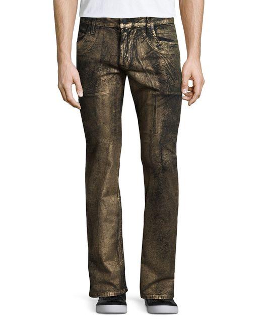 Robinu0026#39;s jean Gold-coated Studded Pocket Denim Jeans in Gold for Men   Lyst