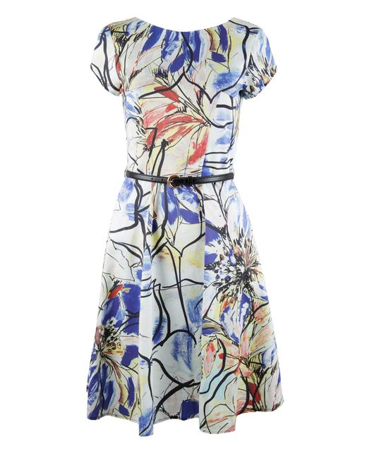 Closet floral cut out back dress in multicolor multi coloured save