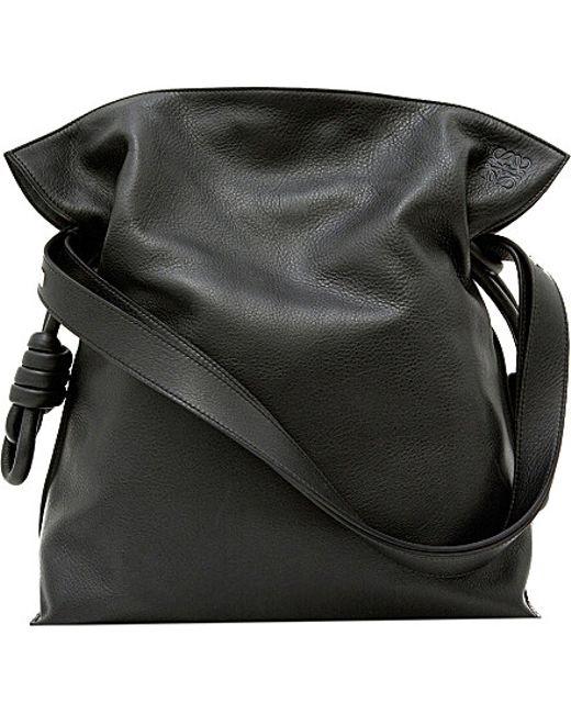 Loewe | Black Large Flamenco Knot Leather Shoulder Bag | Lyst