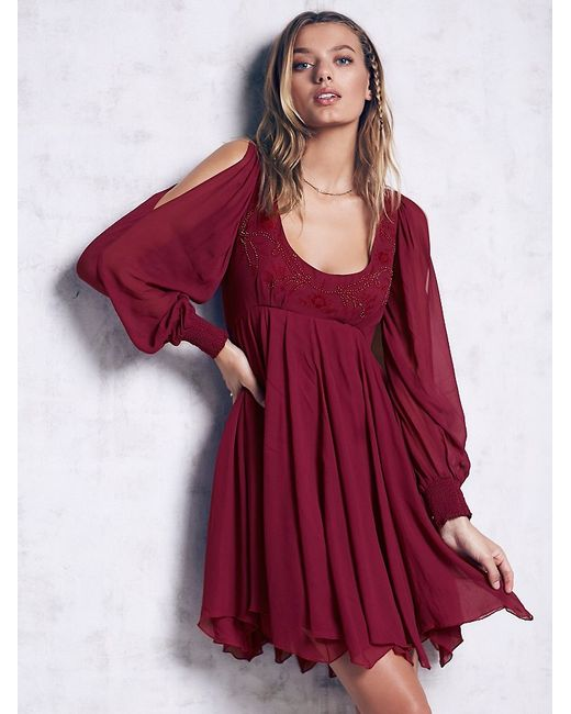 Free People | Purple Tatiana Swing Dress | Lyst
