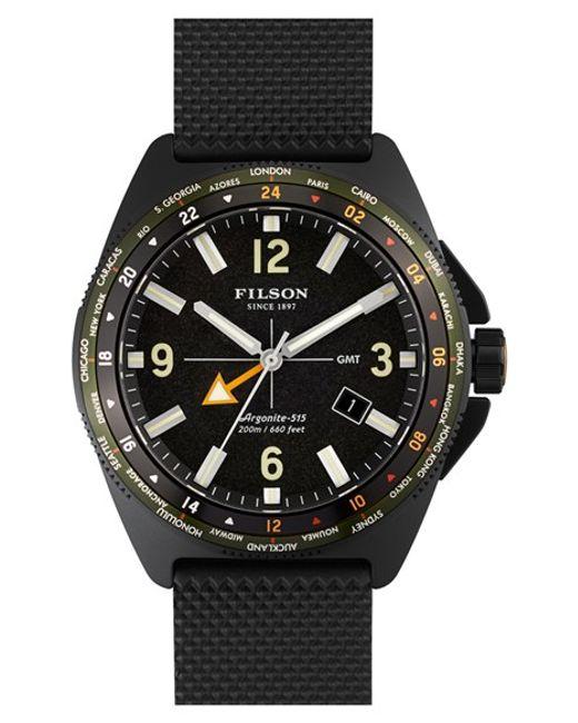 Filson | Black Journeyman Gmt Watch 44 Mm for Men | Lyst