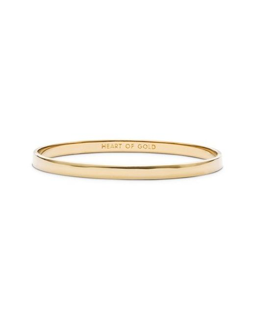 kate spade new york | Metallic 'idiom - Heart Of Gold' Bangle | Lyst