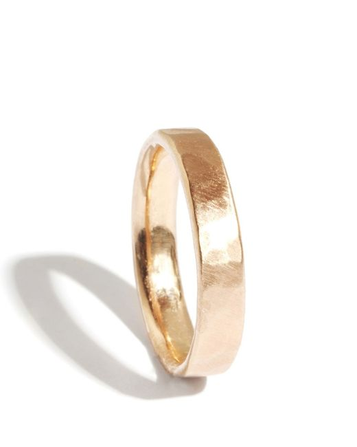Melissa Joy Manning | Metallic 14k Gold Hammered Texture 4mm Ring | Lyst