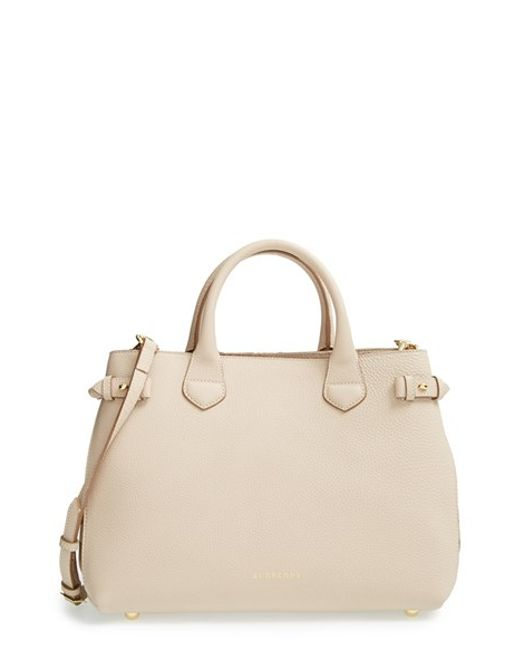 Burberry | Natural 'medium Banner' Leather Tote | Lyst