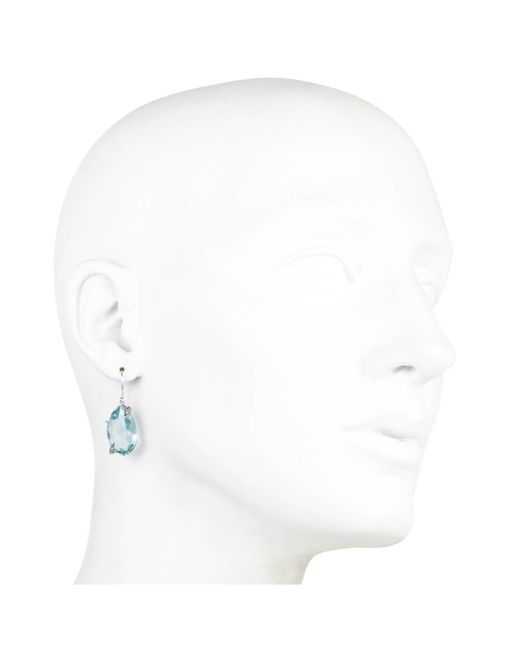 Alexis Bittar | Blue One Stone Quartz With Sapphire Pave Drop Earring You Might Also Like | Lyst