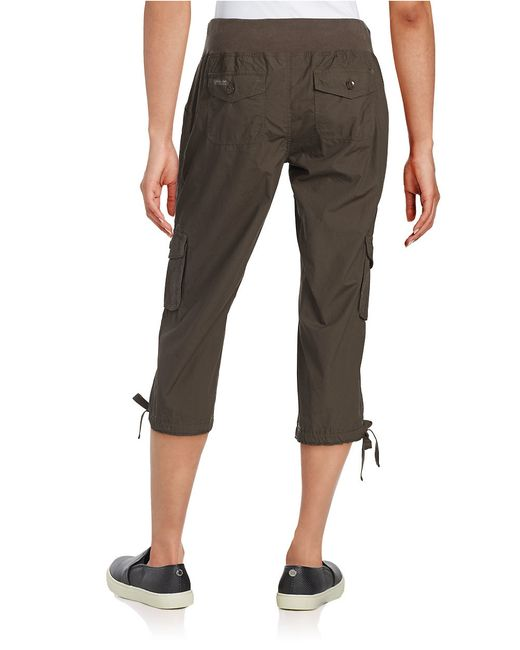 Model  About Calvin Klein Jeans  Slim Cropped Women39s Cargo Pants 70 NWT