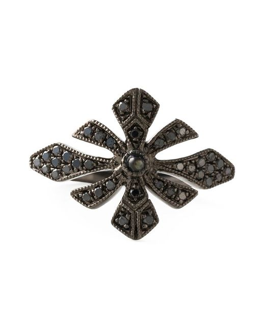 Joelle Jewellery   Black Joëlle Jewellery 'antique' Tip Finger Ring   Lyst