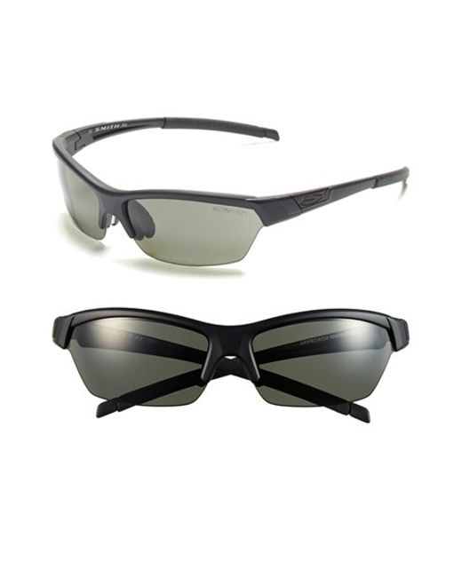 Smith Optics | Black 'approach' 62mm Interchangeable Lens Sunglasses | Lyst