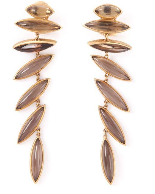 Antonio Bernardo   Metallic 18kt Yellow Gold 'wing' Clip-on Earrings   Lyst