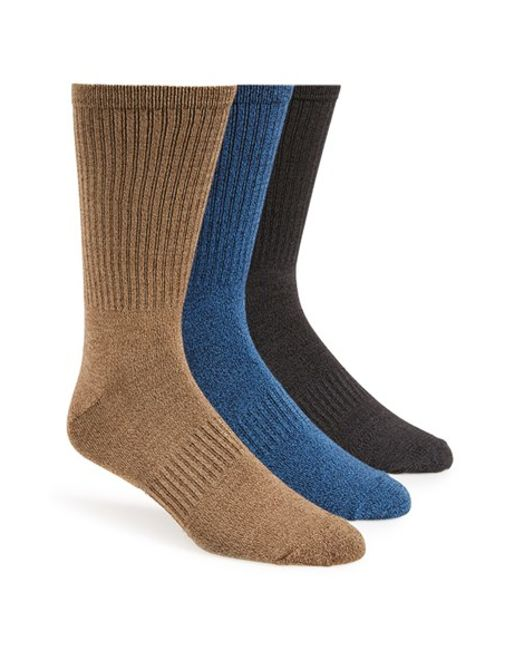 Sperry Top-Sider | Black 'soft Extreme' Crew Socks for Men | Lyst