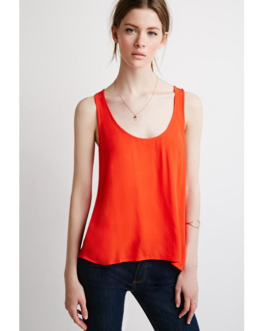 Forever 21 | Contemporary Layered Sleeveless Top | Lyst