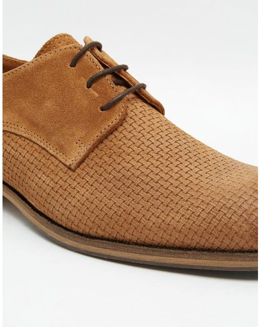 selected elected homme bolton braided leather shoes in