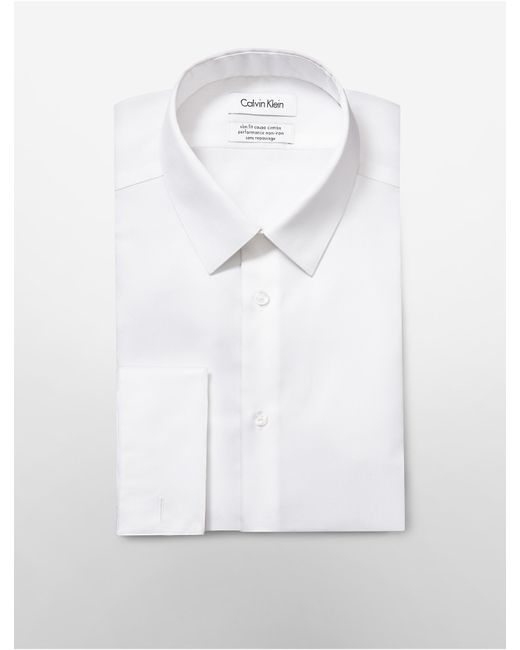 Calvin klein white label steel slim fit bedford french White french cuff shirt slim fit