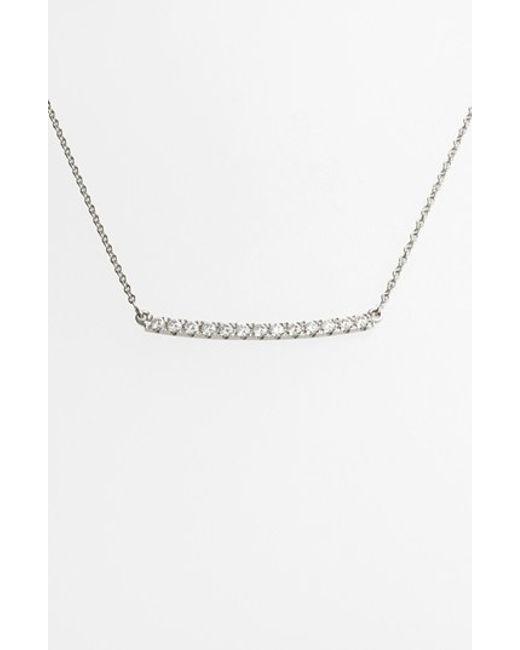 Bony Levy | Metallic 'stick' Pave Diamond Bar Necklace (nordstrom Exclusive) | Lyst