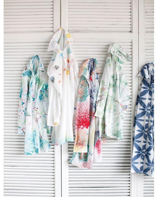 marinette saint tropez carioca nectarine shirt in multicolor aqua lyst. Black Bedroom Furniture Sets. Home Design Ideas