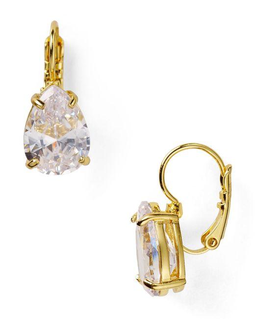 Kate Spade   Metallic Draped Jewels Pear Drop Earrings   Lyst