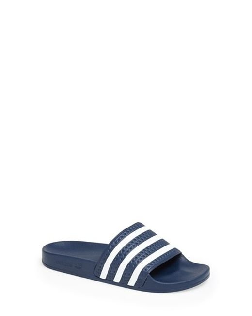 Adidas Originals | Blue Adilette Slide Sandals | Lyst