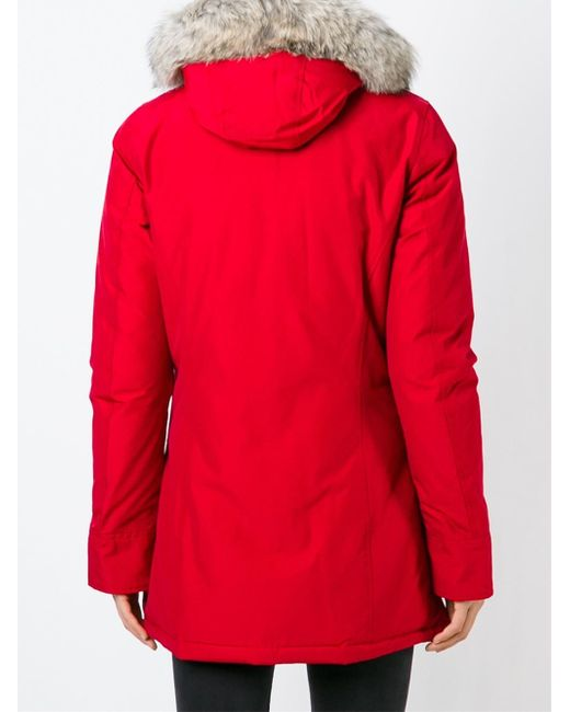 woolrich red arctic parka in red lyst. Black Bedroom Furniture Sets. Home Design Ideas