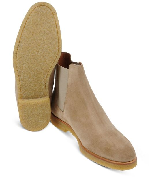 common projects chelsea boot in beige for men tan lyst. Black Bedroom Furniture Sets. Home Design Ideas