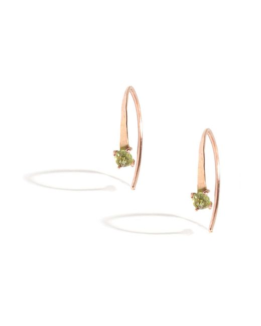 Melissa Joy Manning | Metallic Mini Wishbone Earrings With Peridot | Lyst