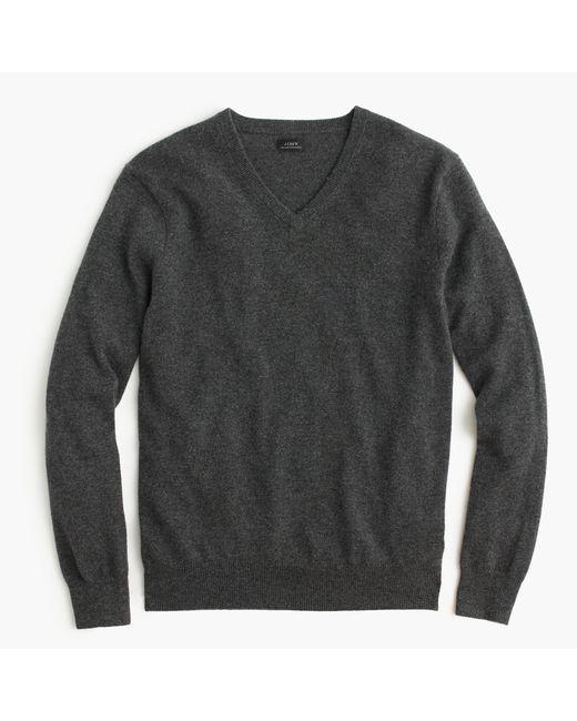 J.Crew | Gray Italian Cashmere V-neck Sweater for Men | Lyst