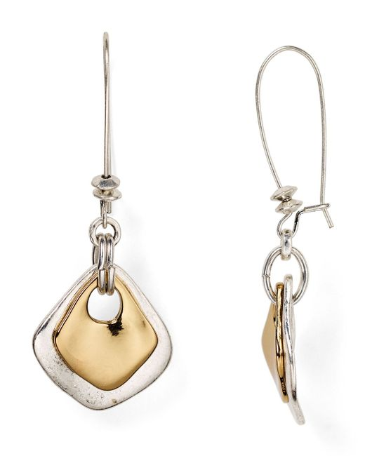 Robert Lee Morris | Metallic Shepherd's Hook Drop Earrings | Lyst