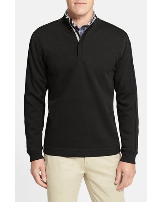 Cutter & Buck | Black 'fulltime' Pima Cotton Pullover for Men | Lyst