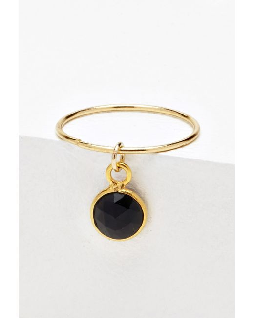 Forever 21 luna norte stella ring in gold gold black for Luna and stella jewelry