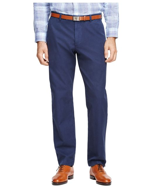 Brooks Brothers | Blue Milano Fit Garment-dyed Chinos for Men | Lyst